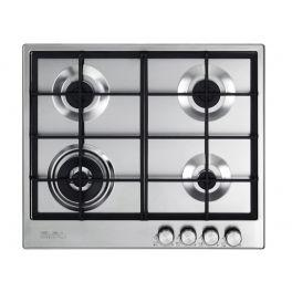 Elba 60cm hob, 4 burners (1 triple ring), safety devices, electric ignition, SS ELIO65445 - Lion City Company