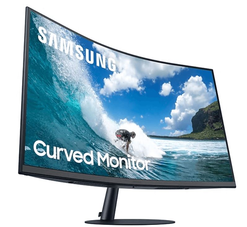 "Samsung LC27T550FDEXXS 27"" Curved Monitor with optimal curvature 1000R"