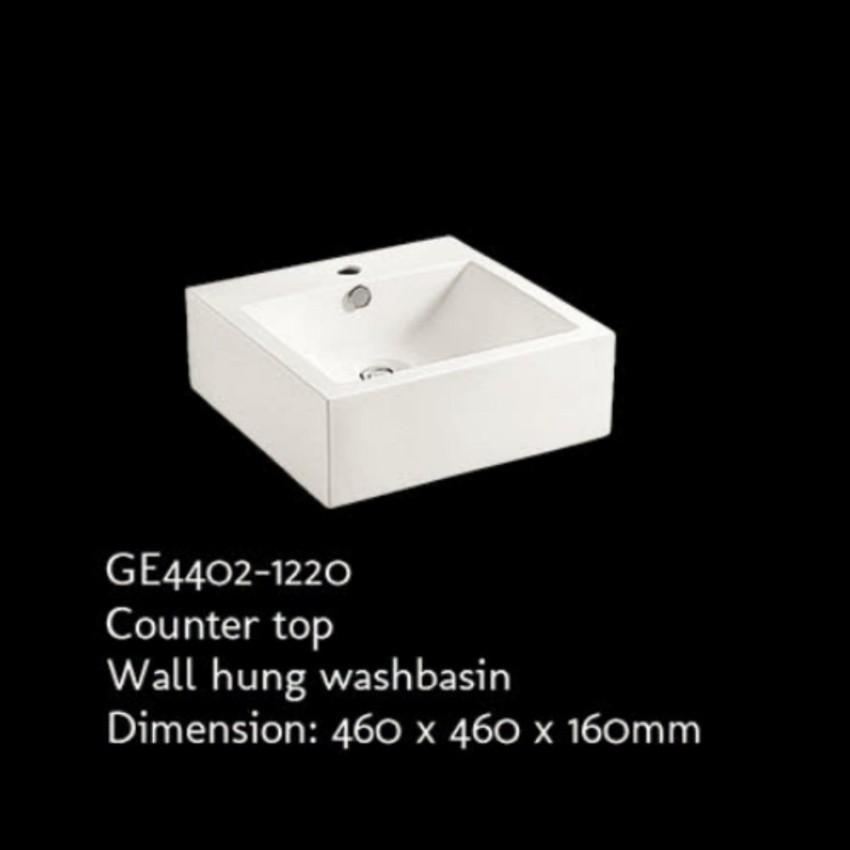 Rubine GE4402-1220 Ceramic Countertop / Wall-hung Washbasin (White) - Lion City Company