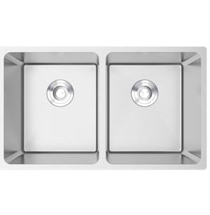 Valenti VKS2037A Stainless Steel Double Bowl Sink