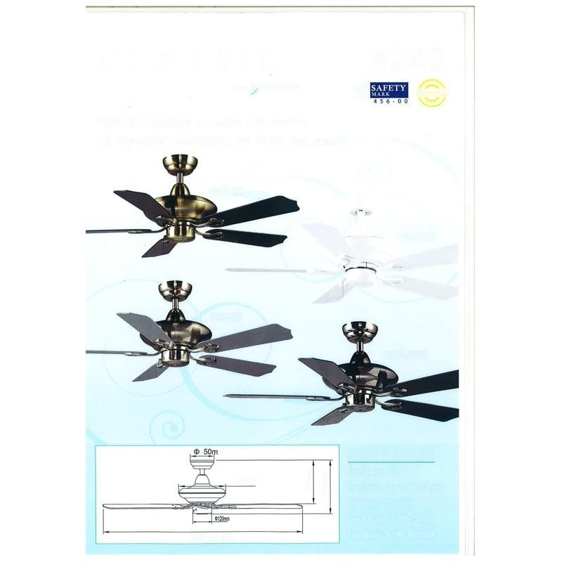 Samaire 52 inch. Acrylic Ceiling Fan 5252 - Lion City Company