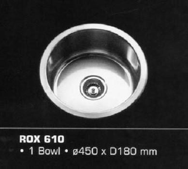 Rubine Kitchen Sink  Royal Well rounded ROX 610 - Lion City Company
