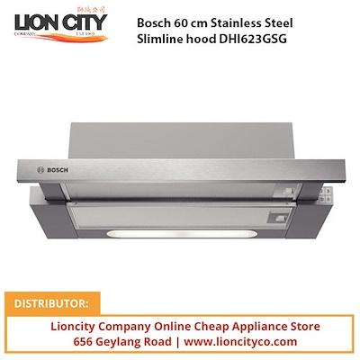 Bosch 60 cm Stainless Steel Slimline hood DHI623GSG - Lion City Company