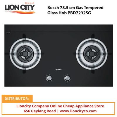 Bosch 78.5 cm Gas Tempered Glass Hob PBD7232SG