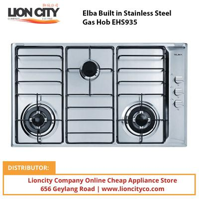 Elba 90cm Built in Stainless Steel Gas Hob EHS935 - Lion City Company