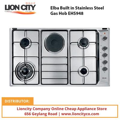 Elba 90 cm Built in Stainless Steel Gas Hob EHS948 - Lion City Company