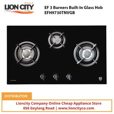 EF 3 Burners Built-In Glass Hob EFH9730TNVGB - Lion City Company