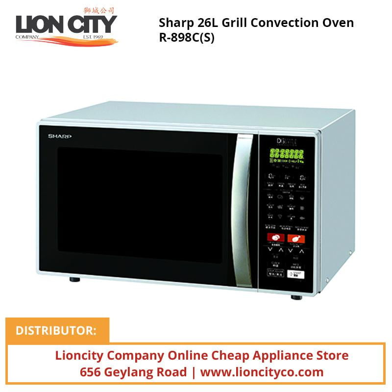 Sharp R898C(S) 26L Grill Convection Oven - Lion City Company
