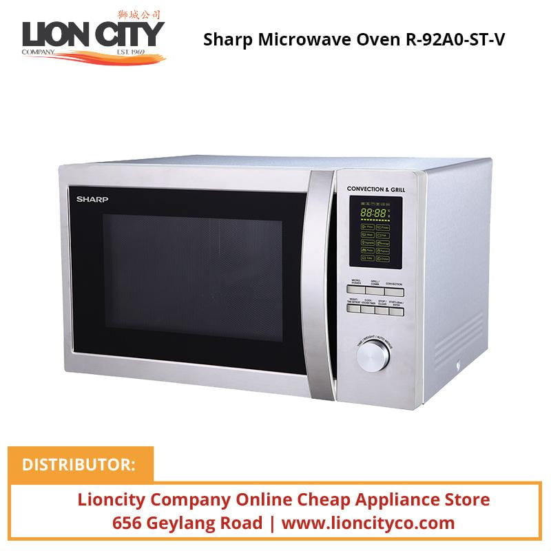 Sharp R92A0(ST)V 34L Convection Microwave Oven - Lion City Company