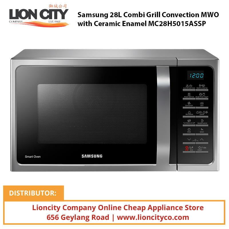 Samsung 28L Combi Grill Convection MWO with Ceramic Enamel MC28H5015ASSP - Lion City Company