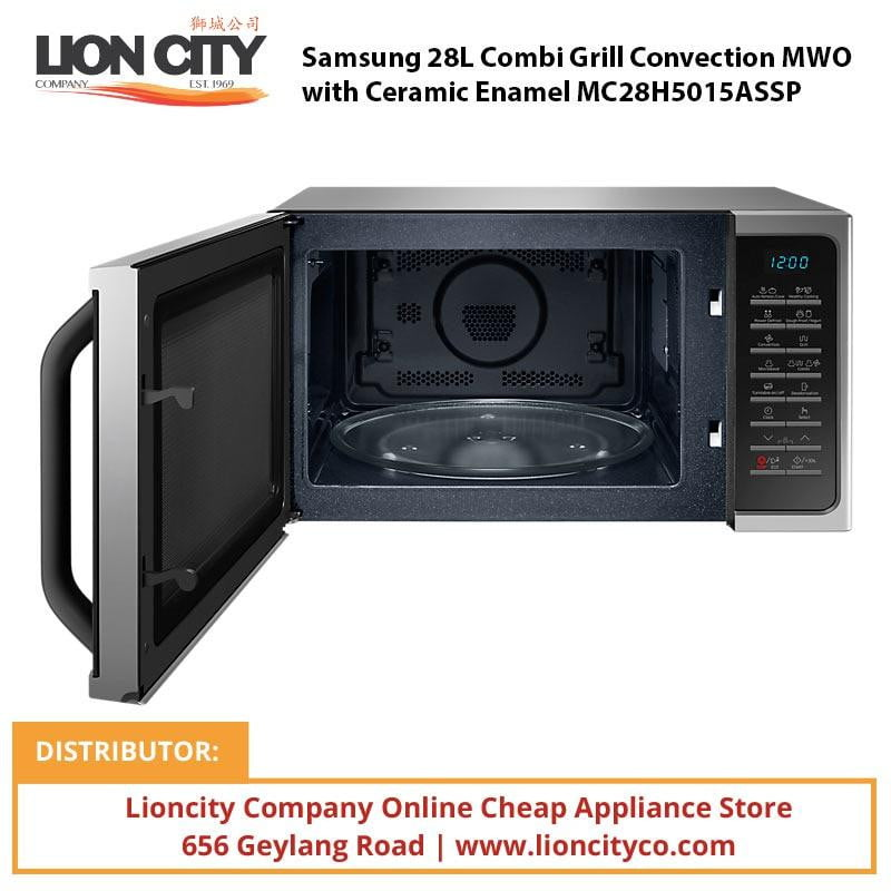Samsung 28L Combi Grill Convection MWO with Ceramic Enamel MC28H5015ASSP