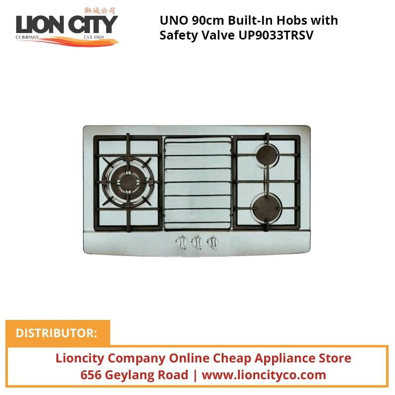 UNO 90cm Built-In Hobs with Safety Valve UP9033TRSV - Lion City Company