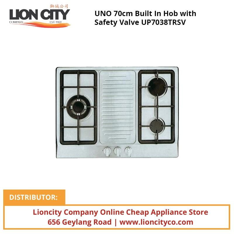 UNO 70cm Built In Hob with Safety Valve UP7038TRSV