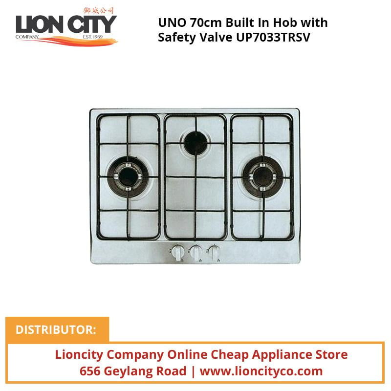 UNO 70cm Built In Hob with Safety Valve UP7033TRSV - Lion City Company