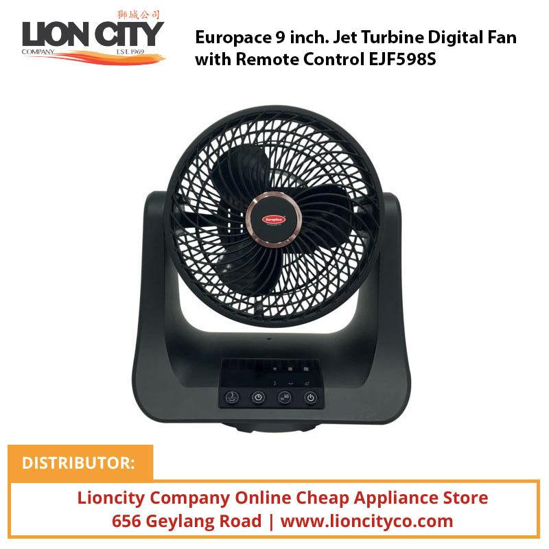 Europace 9 inch. Jet Turbine Digital Fan with Remote Control EJF598S - Lion City Company