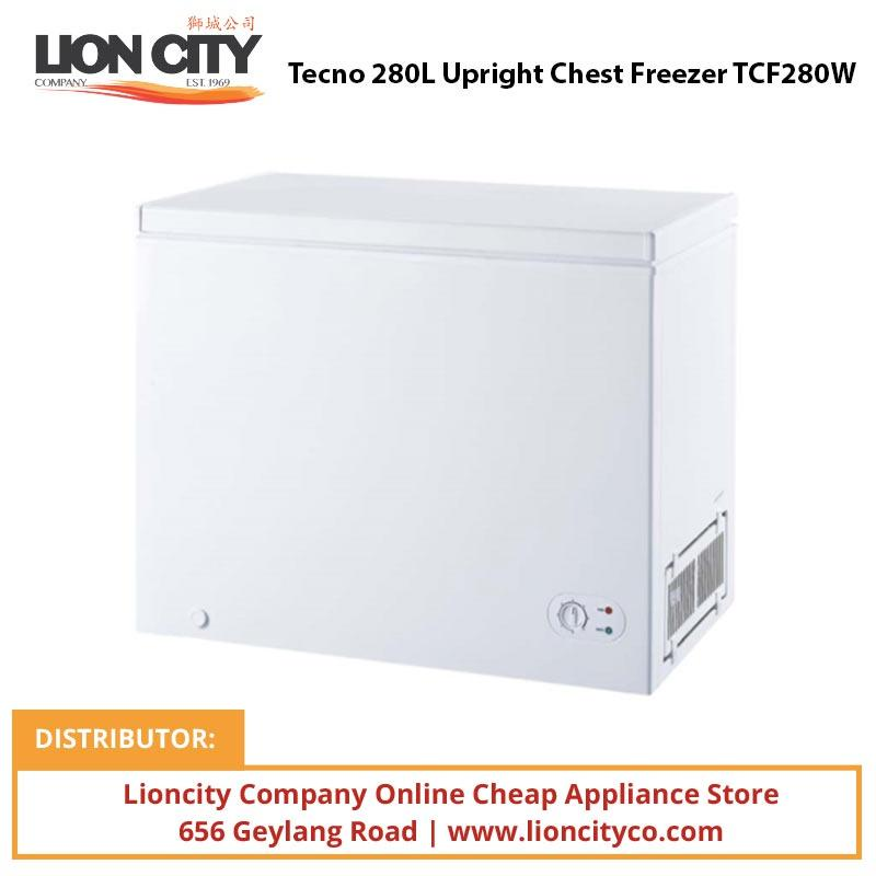 Tecno 280L Upright Chest Freezer TCF280W