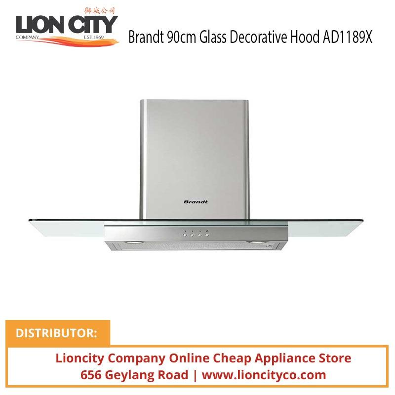 Brandt 90cm Glass Decorative Hood AD1189X - Lion City Company