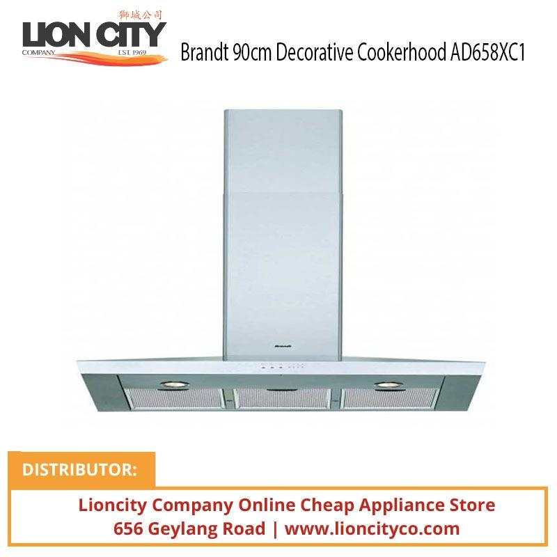 Brandt 90cm Decorative Cookerhood AD658XC1 - Lion City Company