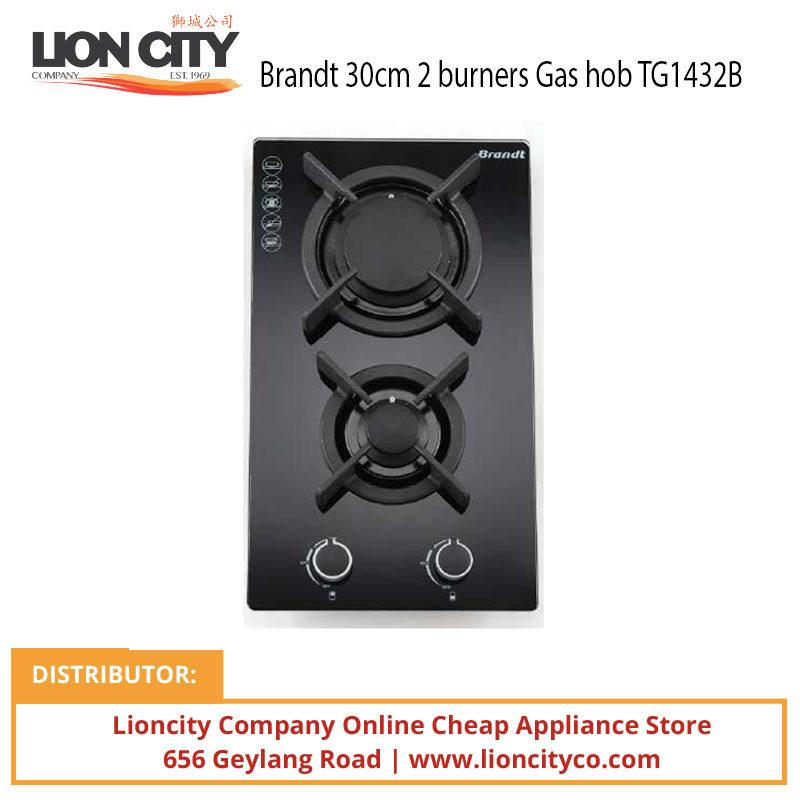 Brandt 30cm 2 burners Gas hob TG1432B - Lion City Company