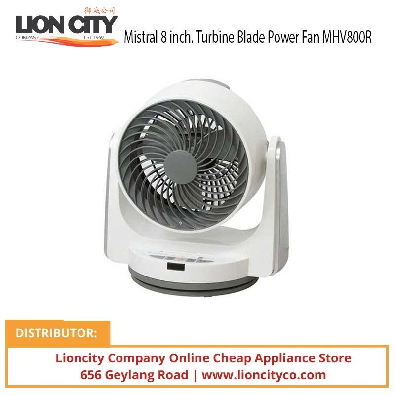 Mistral MHV800R 8 inch Turbine Blade Power Fan - White - Lion City Company