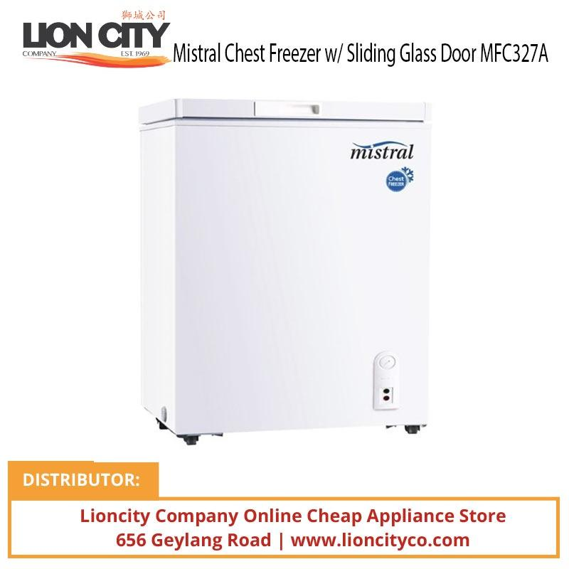 Mistral MFC327A 327L Chest Freezer W/lock Sliding Glass Door