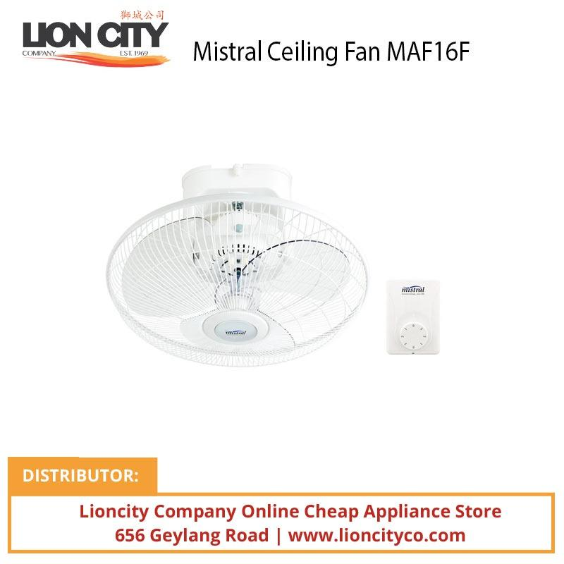 Mistral MAF16F 16 inch Ceiling Fan - Lion City Company