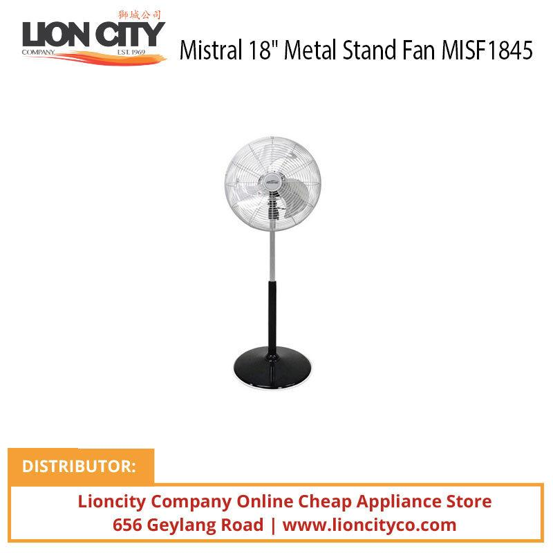 Mistral MISF1845 18 inch Metal Stand Fan - Aluminum Blade - Lion City Company