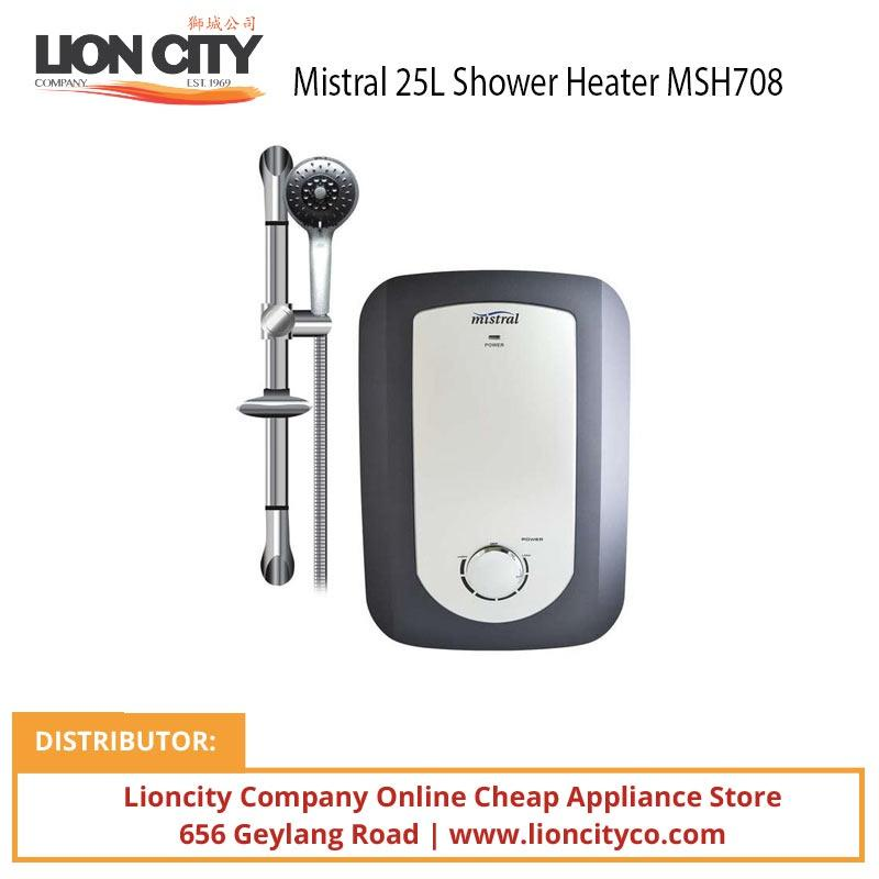 Mistral MSH708 25L Shower Heater - Lion City Company