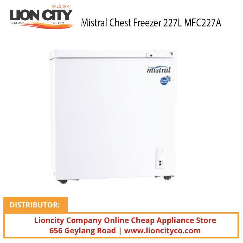 Mistral MFC227A 227L Chest Freezer W/lock, Sliding