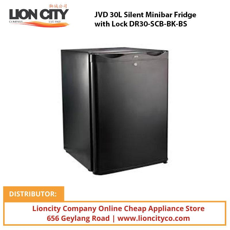 JVD 30L Silent Minibar Fridge with Lock DR30-SCB-BK-BS - Lion City Company