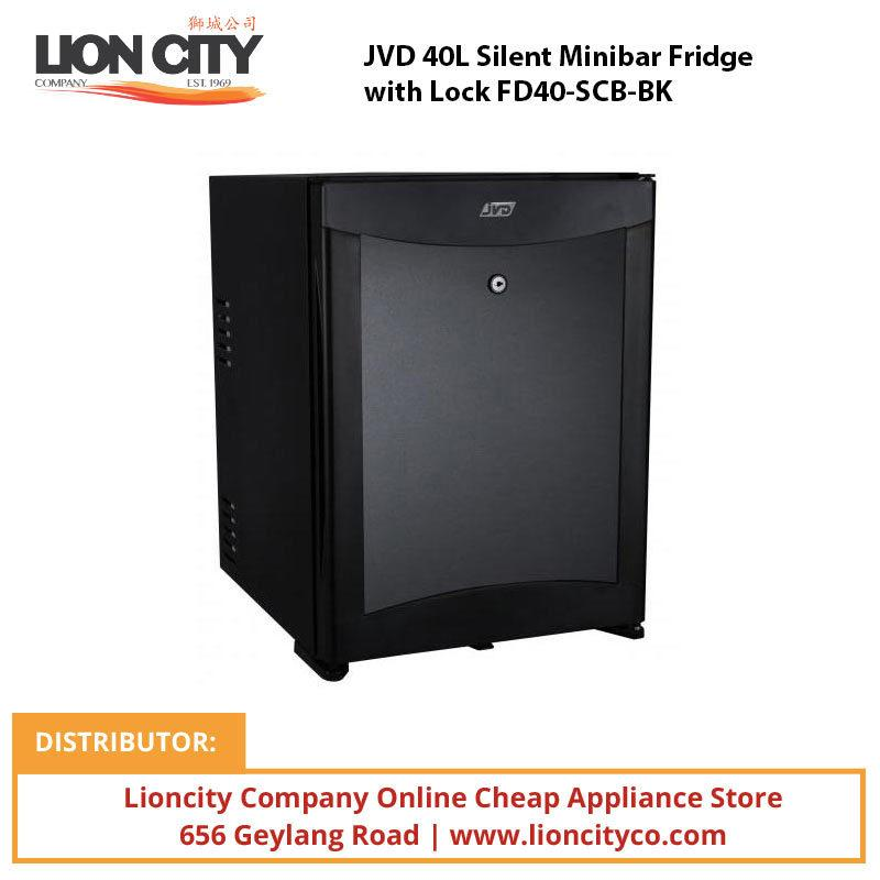 JVD 40L Silent Minibar Fridge with Lock FD40-SCB-BK - Lion City Company