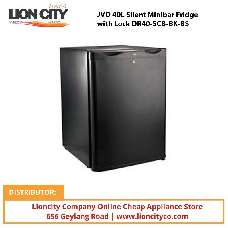 JVD 40L Silent Minibar Fridge with Lock DR40-SCB-BK-BS - Lion City Company