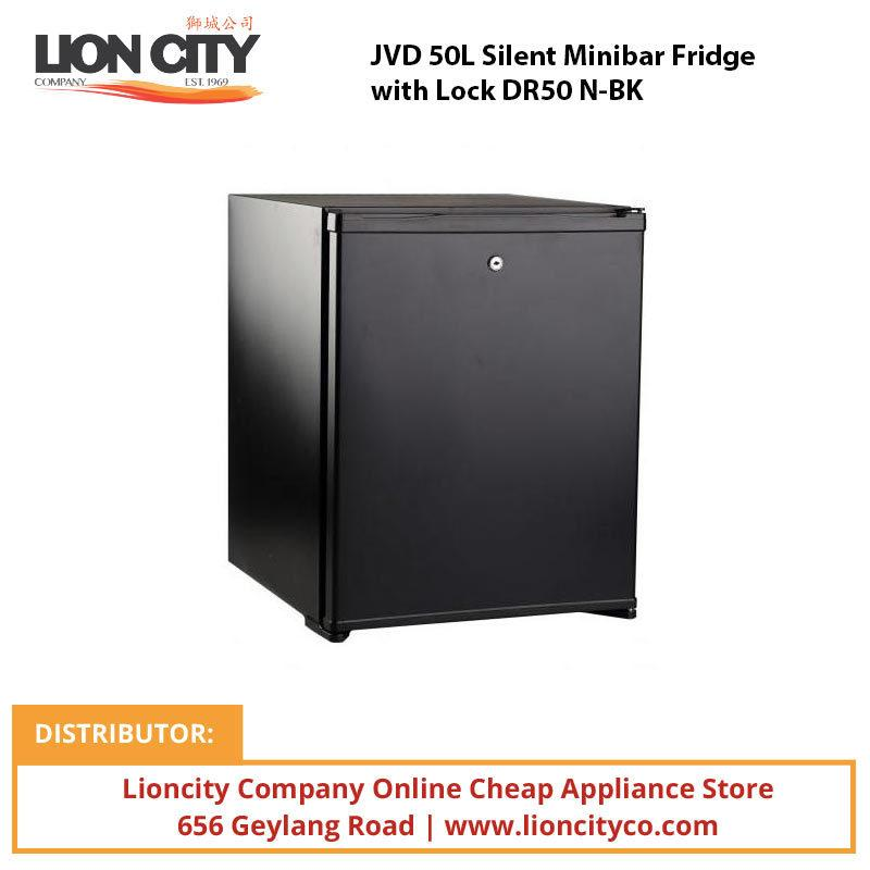 JVD 50L Silent Minibar Fridge with Lock DR50 N-BK