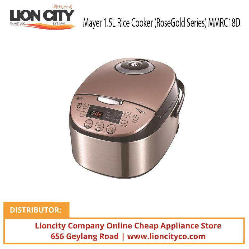 Mayer 1.5L Rice Cooker (RoseGold Series) MMRC18D - Lion City Company