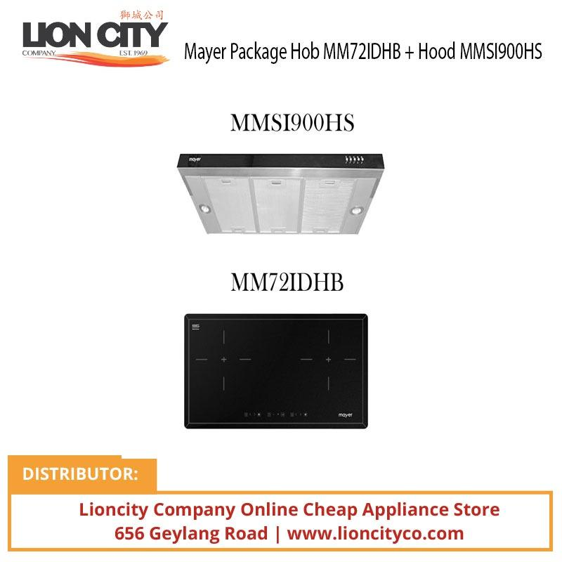 Mayer Package Hob MM72IDHB + Hood MMSI900HS - Lion City Company
