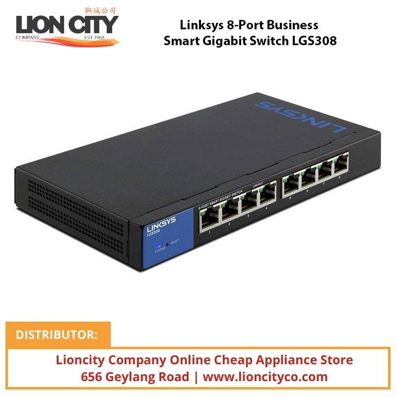 Linksys 8-Port Business Smart Gigabit Switch LGS308 - Lion City Company