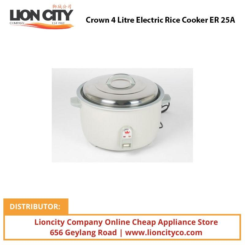 Crown 4 Litre Electric Rice Cooker ER25A - Lion City Company