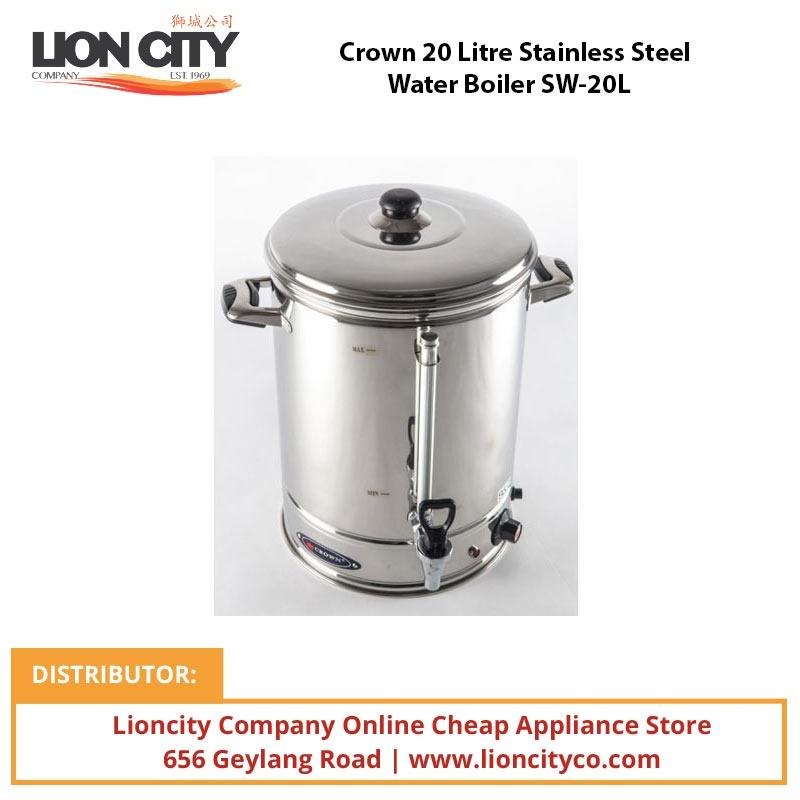 Crown 20 Litre Stainless Steel Water Boiler SW20L - Lion City Company