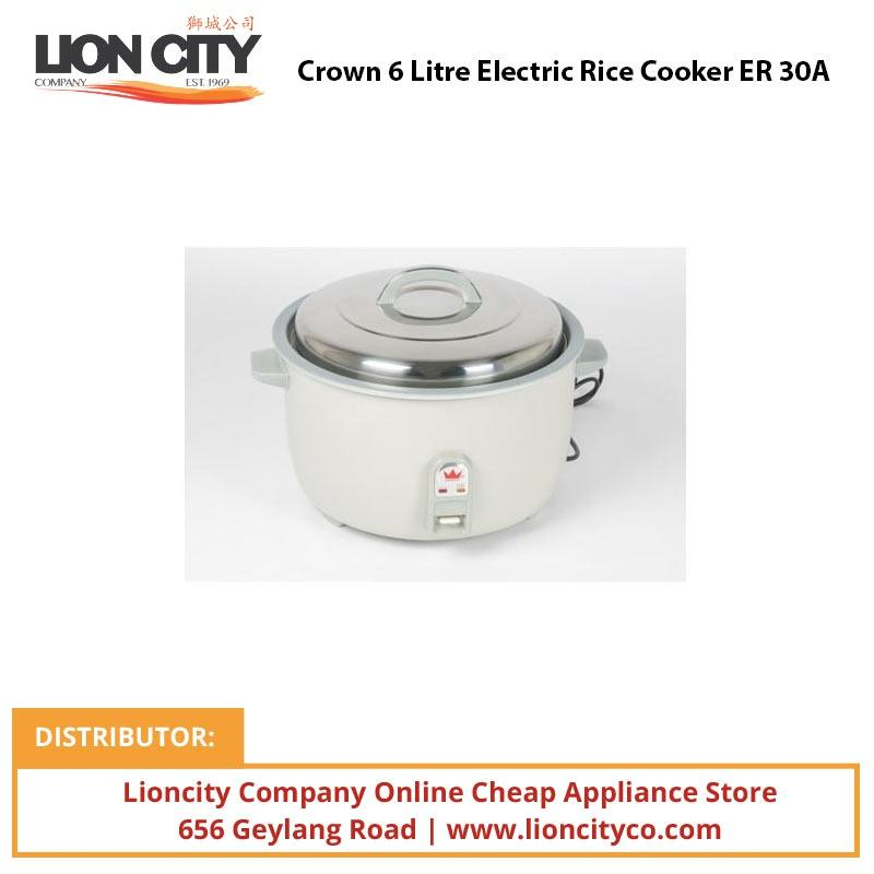 Crown 6 Litre Electric Rice Cooker ER30A - Lion City Company