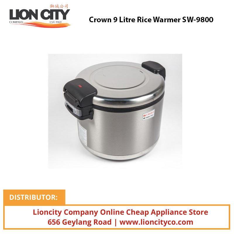 Crown 9 Litre Rice Warmer SW9800 - Lion City Company