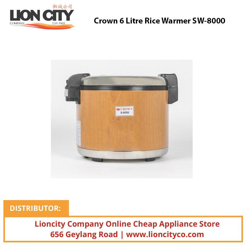 Crown 6 Litre Rice Warmer SW8000 - Lion City Company