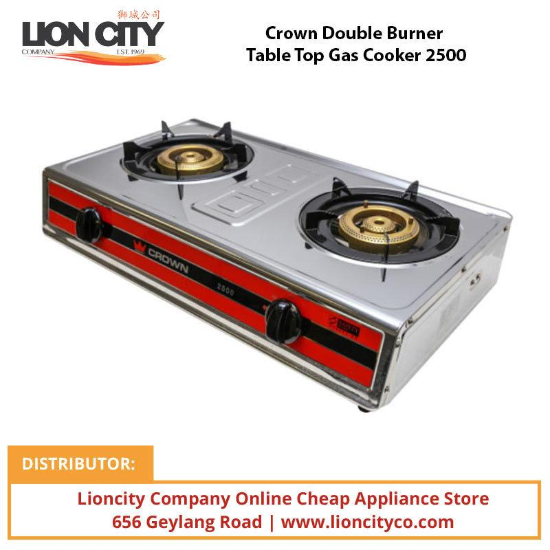 Crown Double Burner Table Top Gas Cooker 2500 - Lion City Company
