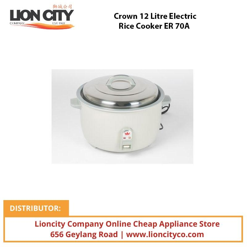 Crown 12 Litre Electric Rice Cooker ER70A - Lion City Company