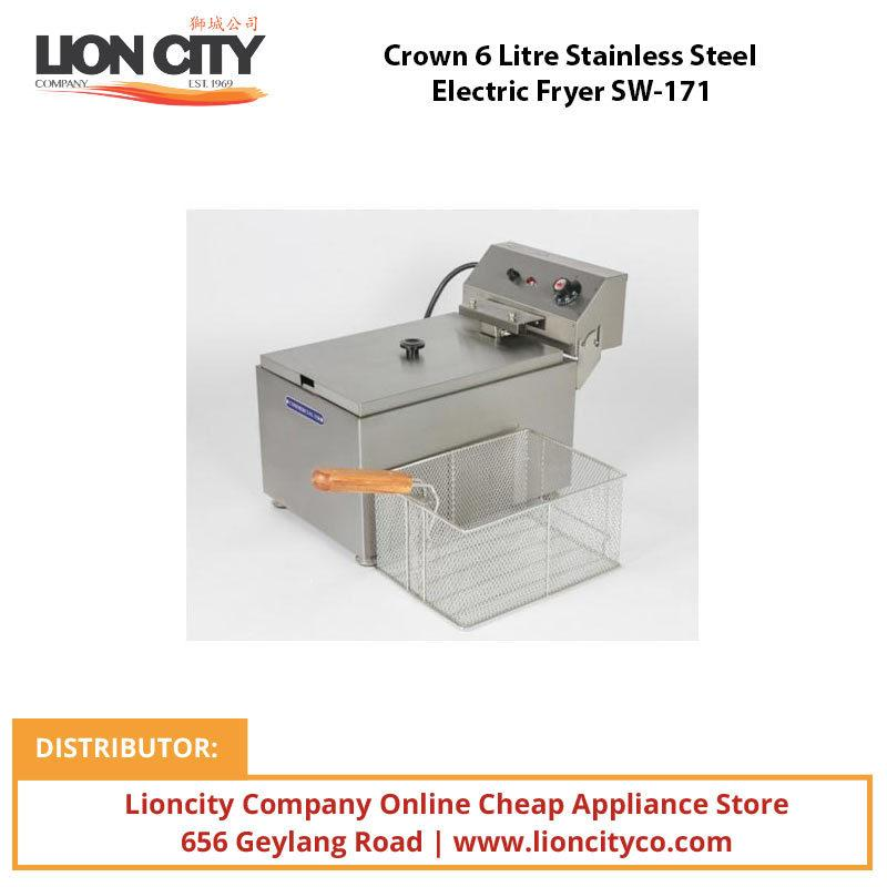 Crown 6 Litre Stainless Steel Electric Fryer SW171 - Lion City Company