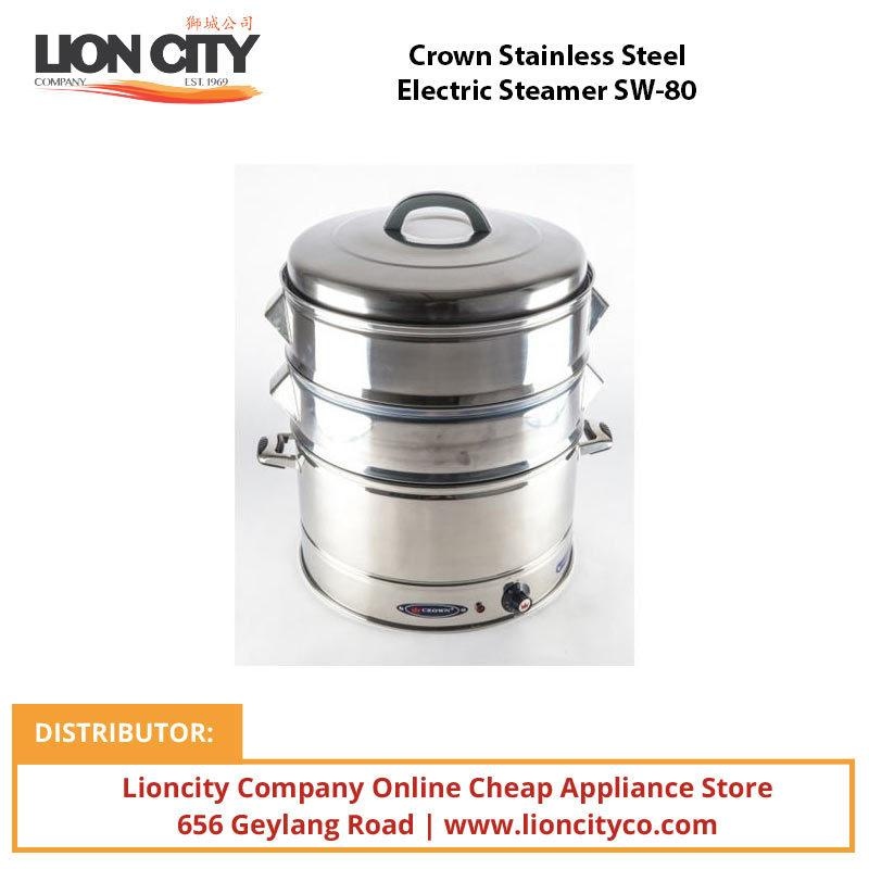 Crown Stainless Steel Electric Steamer SW-80 - Lion City Company