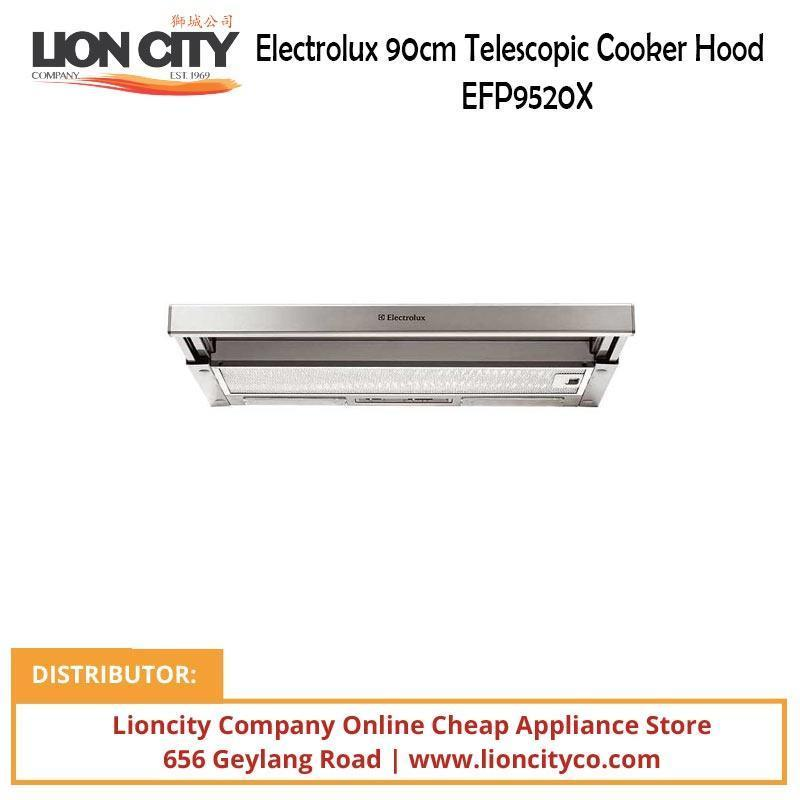 Electrolux EHG9360BS (LPG) 90cm LPG Gas Hob with Electric Steamer + EFP9520X 90cm Telescopic Cooker Hood