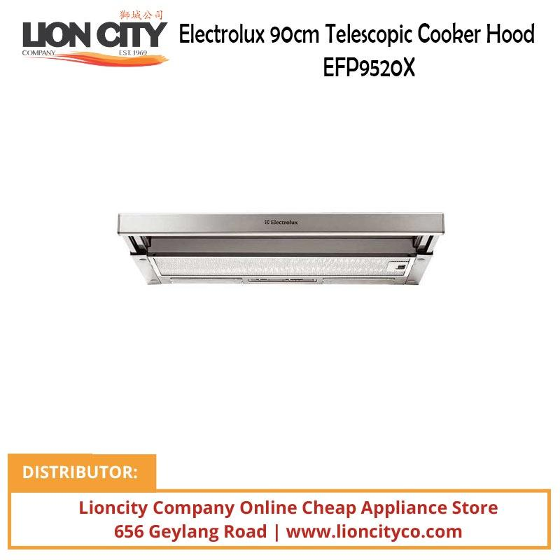 Electrolux 90cm Telescopic Cooker Hood EFP9520X - Lion City Company