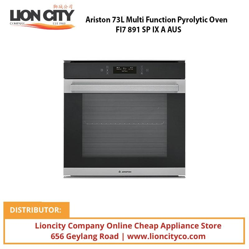 Ariston 73L Multi Function Pyrolytic Oven FI7 891 SP IX A AUS