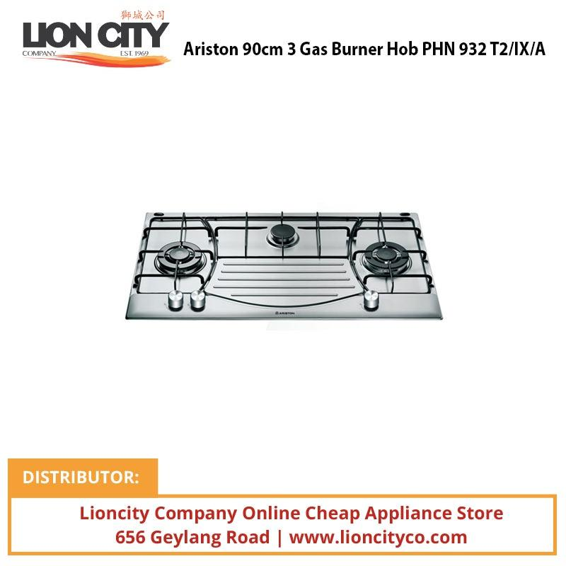 Ariston 90cm 3 Gas Burner Hob PHN 932 T2/IX/A