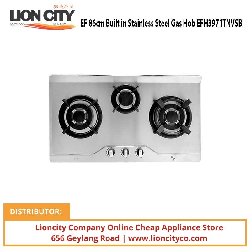 EF 86cm Built in Stainless Steel Gas Hob EFH3971TNVSB - Lion City Company